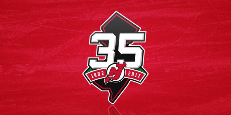 NJ Devils logo - 35th anniv